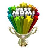 最佳的妈妈得奖的战利品奖世界最了不起的母亲 免版税库存照片