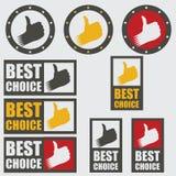 最佳的挑选图标被设置的向量 图库摄影