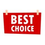 最佳的挑选标志-例证 免版税图库摄影