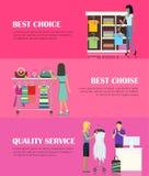 最佳的挑选概念 优质的服务概念 库存例证