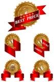 最佳的标签价格集 免版税库存照片