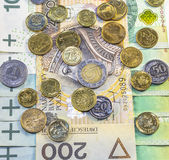 最佳的波兰货币 库存图片
