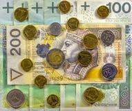 最佳的波兰货币 库存照片