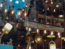 最佳的灯商店Sishane伊斯坦布尔 库存图片