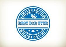 最佳的爸爸邮票 库存图片