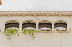 最佳的窗口在景色秀丽威尼斯 免版税图库摄影