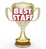 最佳的职员战利品得奖的奖上面劳工队雇员 免版税库存照片