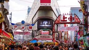 最佳的购物街道在日本 库存照片