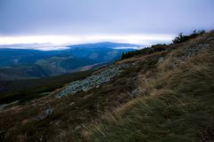 最佳的远足和步行在巨人山 免版税库存照片