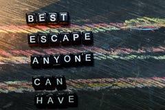 最佳的逃命任何人可能有-在木块的海滩 图库摄影