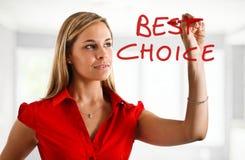 最佳的选择 免版税库存图片