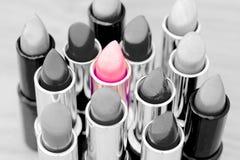 最佳的采购概念化妆用品收藏页产品 免版税库存图片