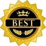 最佳的金徽章 免版税库存图片