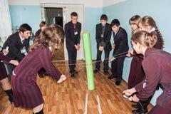 最佳的队的竞争在市Obninsk,卡卢加州地区,俄罗斯 免版税库存图片