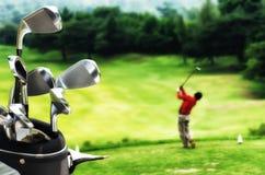 最佳的高尔夫球图片系列 免版税库存照片