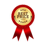 最佳的价格奖牌例证设计 免版税图库摄影