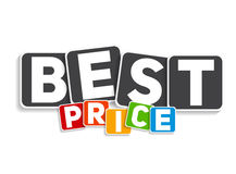 最佳的价格标志模板传染媒介例证 库存照片