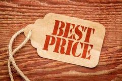 最佳的价格-营销概念 库存图片