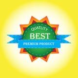 最佳的质量标记设计 免版税库存照片