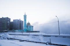 最北的清真寺在Norilsk,俄罗斯联邦 图库摄影