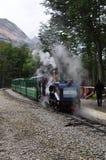 最南端的火车在世界,乌斯怀亚,阿根廷上 库存照片