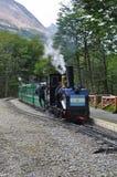 最南端的火车在世界,乌斯怀亚,阿根廷上 免版税库存照片