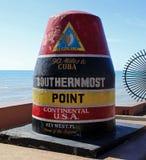 最南端的点在基韦斯特岛 库存照片