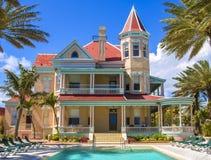 最南端的议院在基韦斯特岛,佛罗里达 免版税库存照片