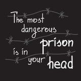 最危险的监狱在您的头 图库摄影