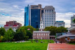 最历史的区区域在宾夕法尼亚,费城 免版税库存图片