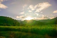 最后太阳峰顶 免版税库存图片