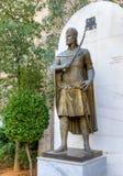 最后拜占庭式的皇帝康斯坦丁XI Palaiologos的雕象 库存图片