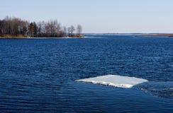 最后浮冰 库存图片