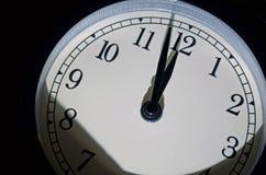 最后的审判日时钟,两分钟耕种午夜 免版税库存照片