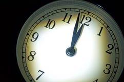 最后的审判日时钟,两分钟耕种午夜 库存照片