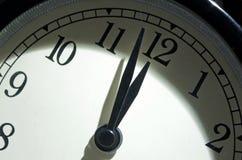 最后的审判日时钟,两分钟耕种午夜 免版税库存图片