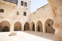 最后的晚餐教会在耶路撒冷 库存照片