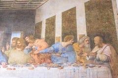 最后的晚餐耶稣 库存图片