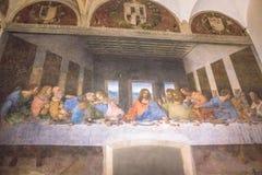 最后的晚餐Leonardo 免版税库存图片