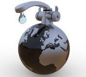 水最后滴在地球概念的 向量例证