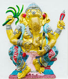 最大在GANESHA阁下雕象世界。 免版税库存图片