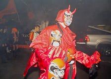 最大的万圣夜游行 免版税库存图片