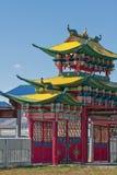 最大的佛教中心在俄罗斯 库存图片
