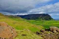 最大的冰川冰岛路南 库存图片