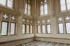 最大的哥特式城堡的房间在欧洲 免版税库存图片