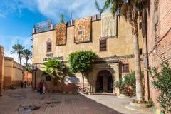 最大的地毯商店在马拉喀什,摩洛哥,非洲 免版税库存照片