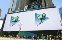最大的数字式广告牌在时代广场 库存照片