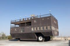 最大的有蓬卡车在世界上,阿布扎比 库存照片