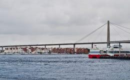 最大的桥梁挪威斯塔万格 免版税库存照片