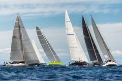 最大的游艇劳力士杯2015帆船种族在波尔图Cervo,意大利 库存照片